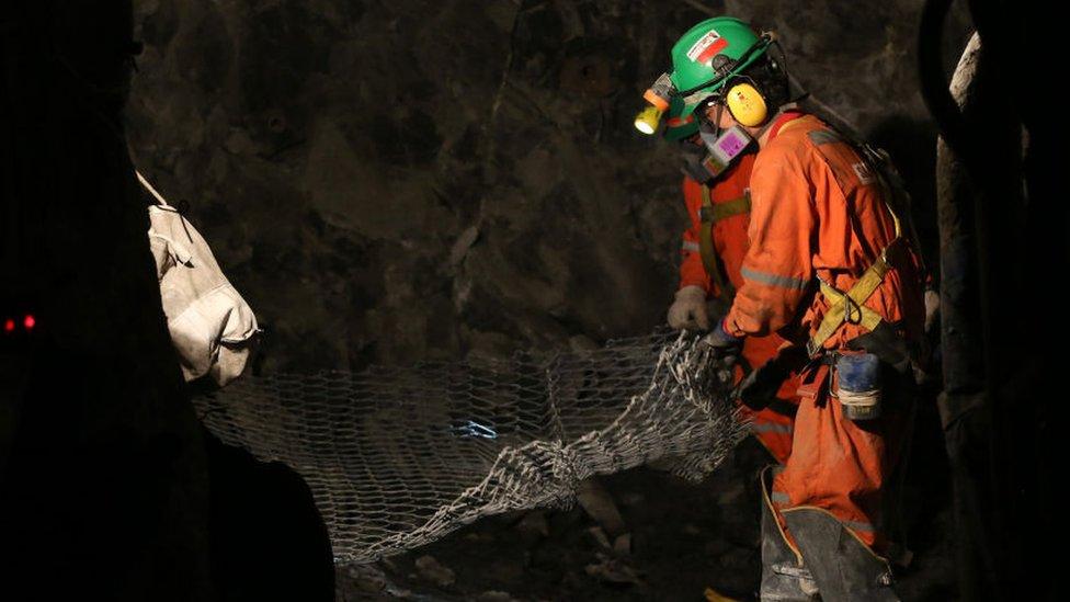 Trabajadores del cobre