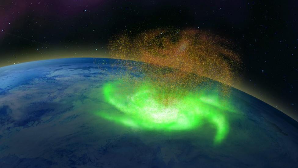 Ilustración de un huracán espacial