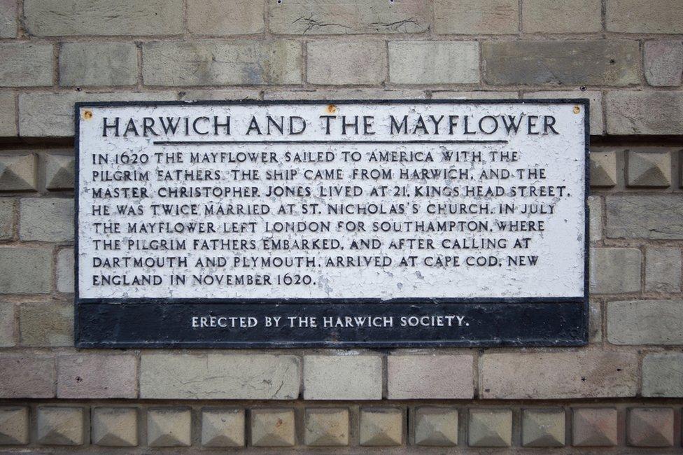 Harwich und die Mayflower