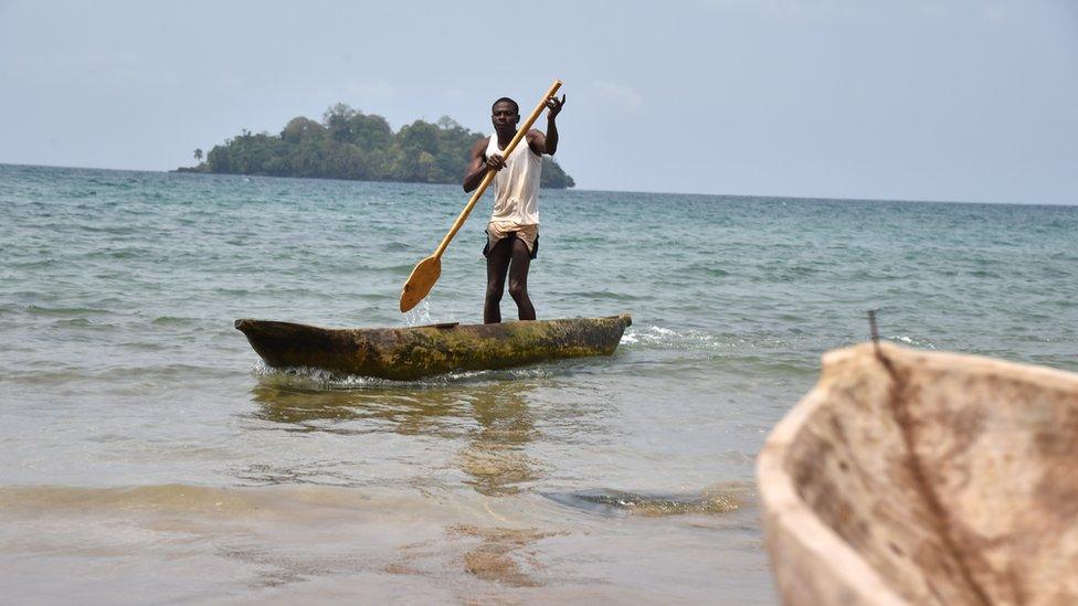 Boatman in Equatorial Guinea