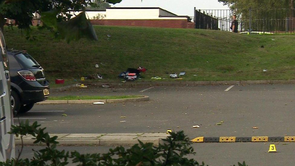 Scene of police shooting in Runcorn