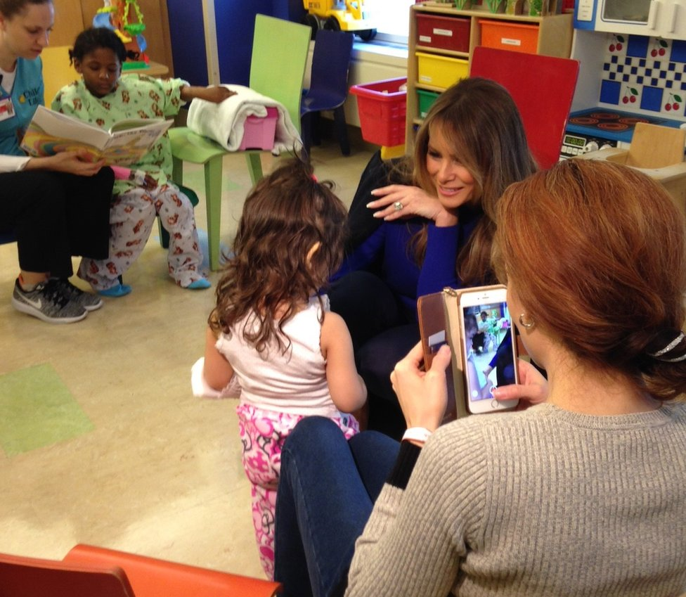 The BBC's Tara McKelvey accompanied the First Lady on the visit