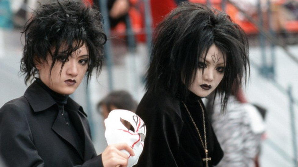 Goths at a Taiwan cosplay event