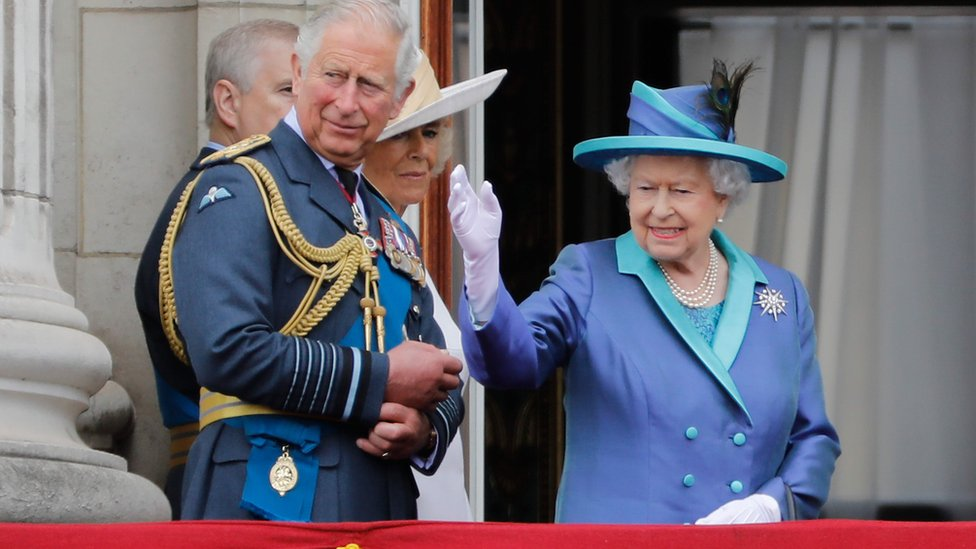 """The Queen called today """"a very special day"""" and said the RAF's """"courage and sacrifice"""" will never be forgotten"""