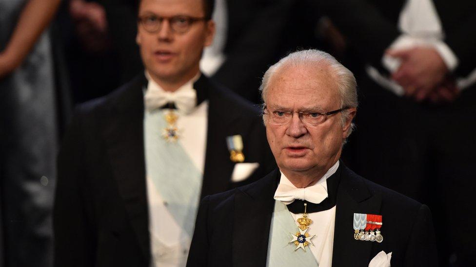 El rey Carlos XVI Gustavo.