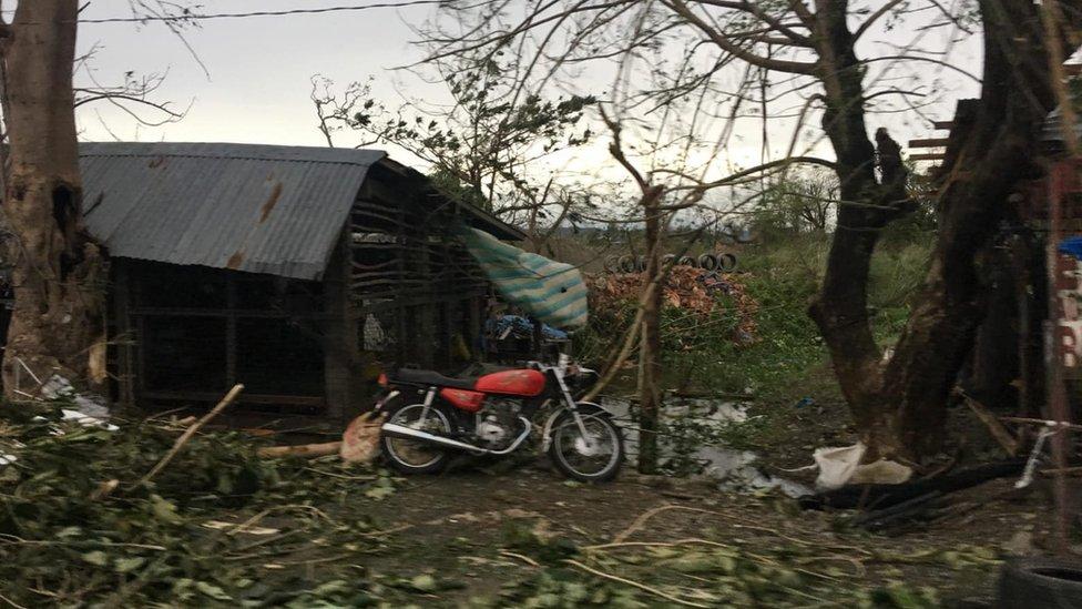 Abandoned shack amid damage in Tuguegarao