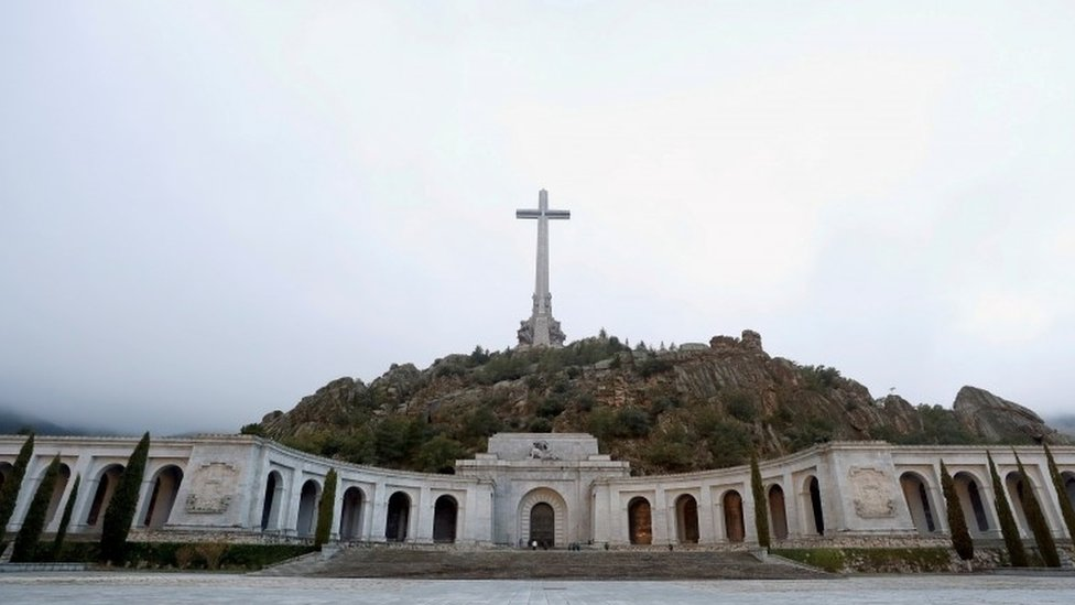 A general view of the Valley of the Fallen mausoleum in San Lorenzo de El Escorial, Spain, October 13, 2019