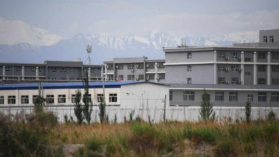 This photo taken on June 4, 2019 shows a facility believed to be a re-education camp where mostly Muslim ethnic minorities are detained, north of Akto in China's northwestern Xinjiang region