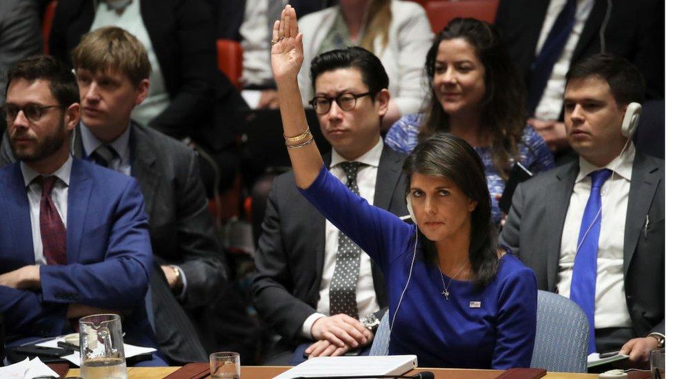 Nikki Haley anunció que su país impondrá nuevas sanciones contra Siria el lunes.