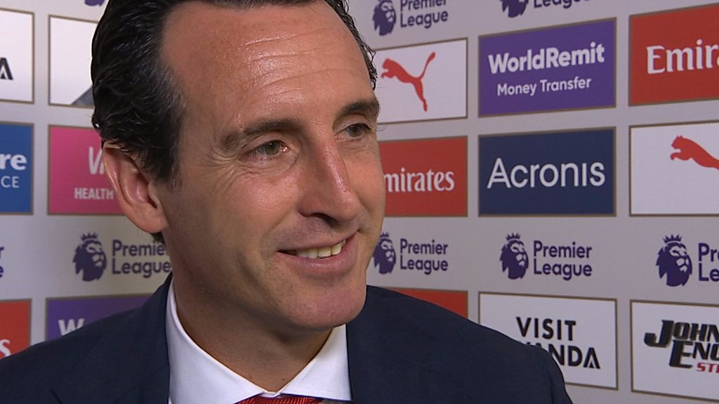 Arsenal 2-0 Everton: Unai Emery delight at 'very important' win for Gunners