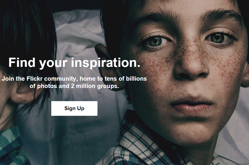 Flickr'ın ana sayfası