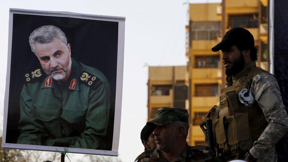صورة لقاسم سليماني في بغداد