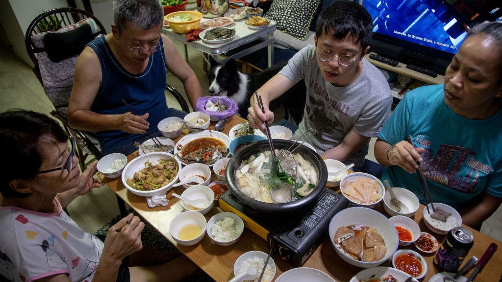 familia en Singapur