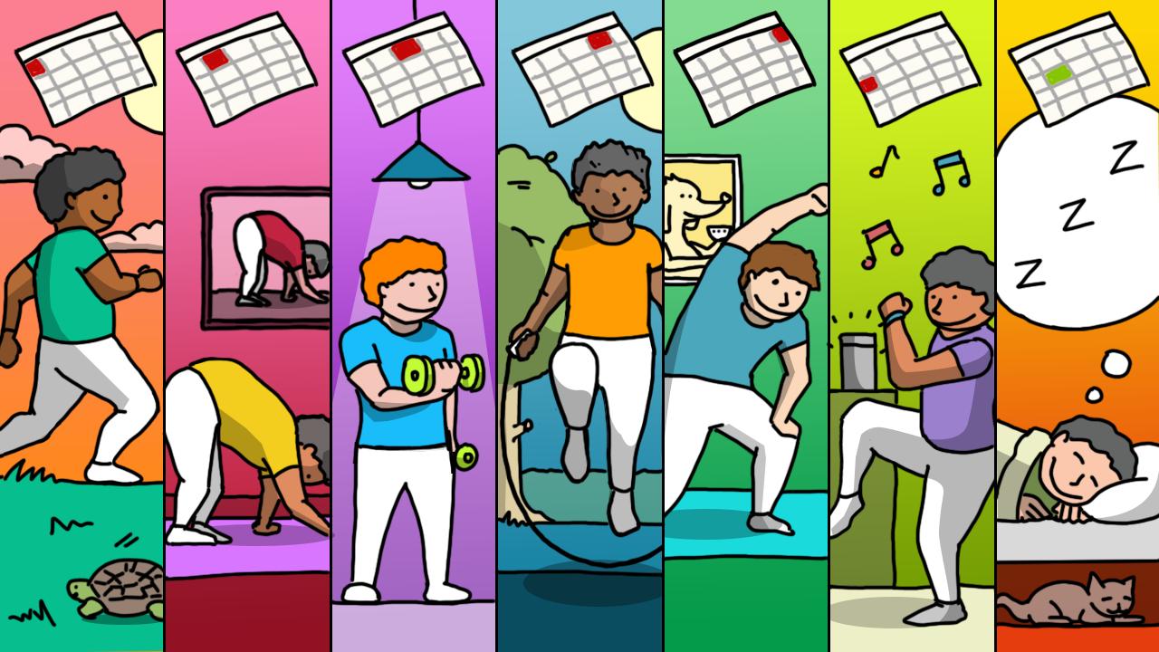 Ilustración sobre ejercicio agendado