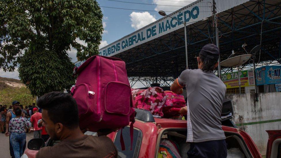 La frontera de Venezuela y Brasil