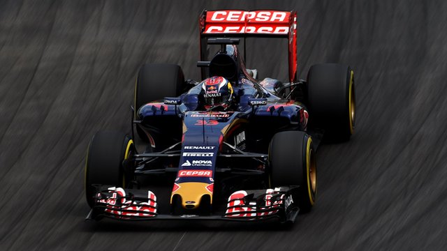 Max Verstappen driving for Toro Rosso in Brazil