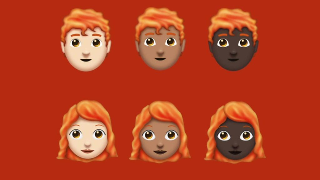 Finally there are ginger emojis