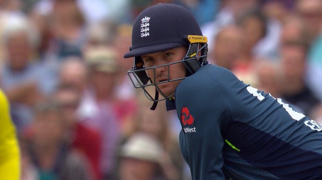 England v Australia: Jason Roy smashes Billy Stanlake for six