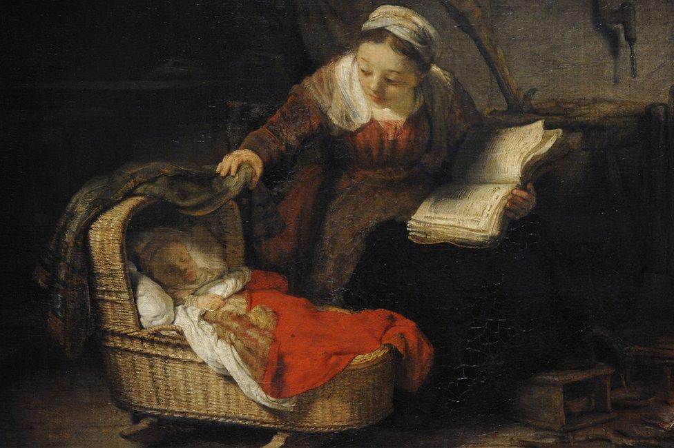 Hollandalı ressam Rembrant'ın St. Petersburg'daki Ermitaj müzesinde sergilenen