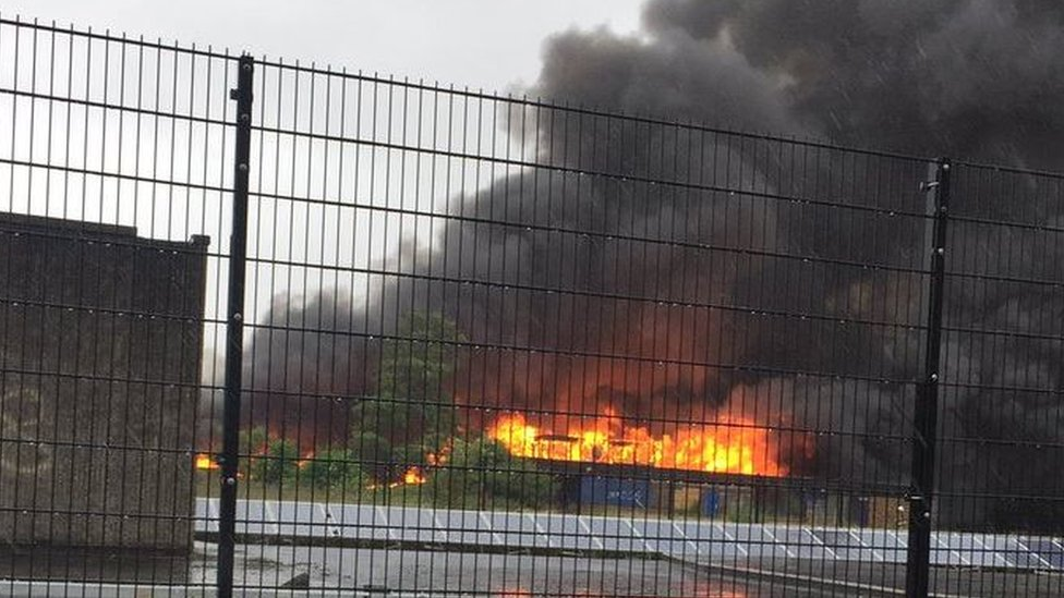 Fire breaks out at disused Liverpool school
