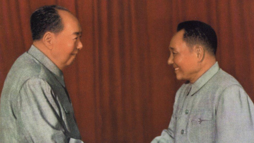 Mao y Deng Xiaoping.