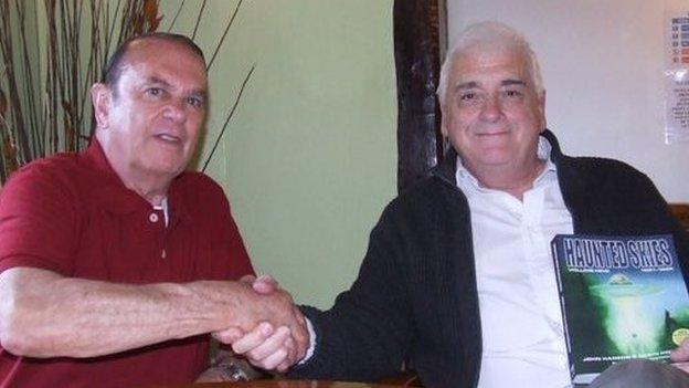 Col Charles Halt and author John Hanson