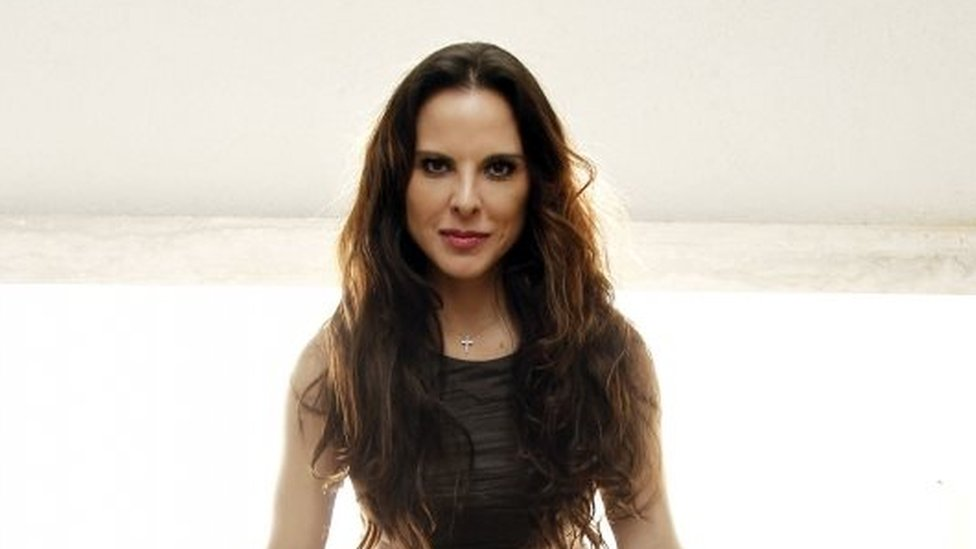 """In this 7 February, 2012 file photo, Mexican actress Kate del Castillo, from the upcoming television show """"La Reina del Sur,"""" or Queen of the South, poses for a portrait in Los Angeles."""