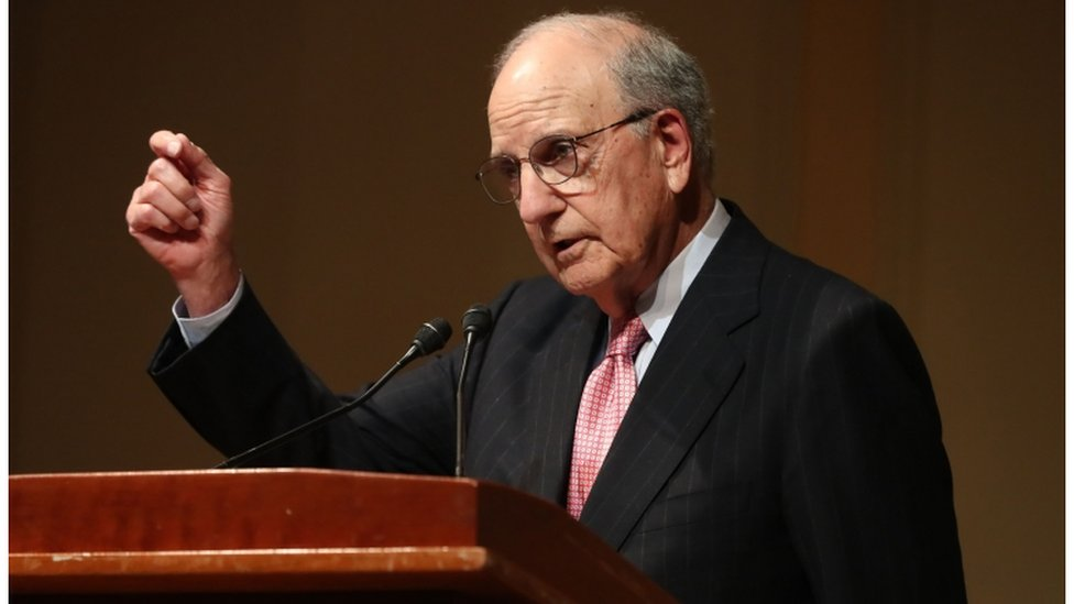 Former US senator George Mitchell also attended the event in Washington