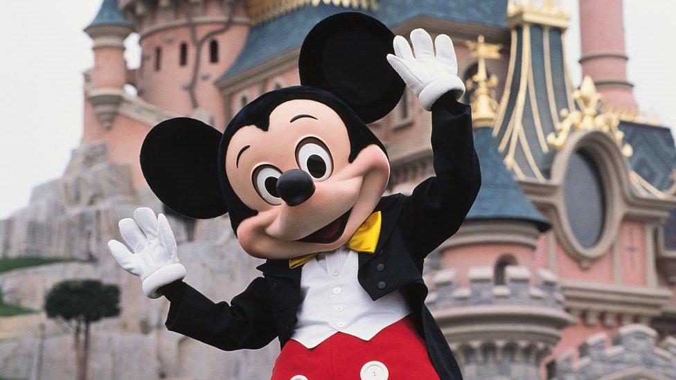 Mickey Mouse en Disneyland