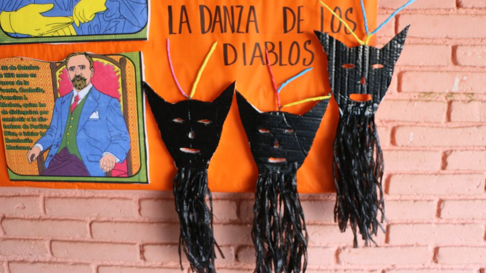 Dance of the Devils display at a school