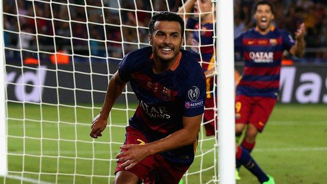 Barcelona forward Pedro