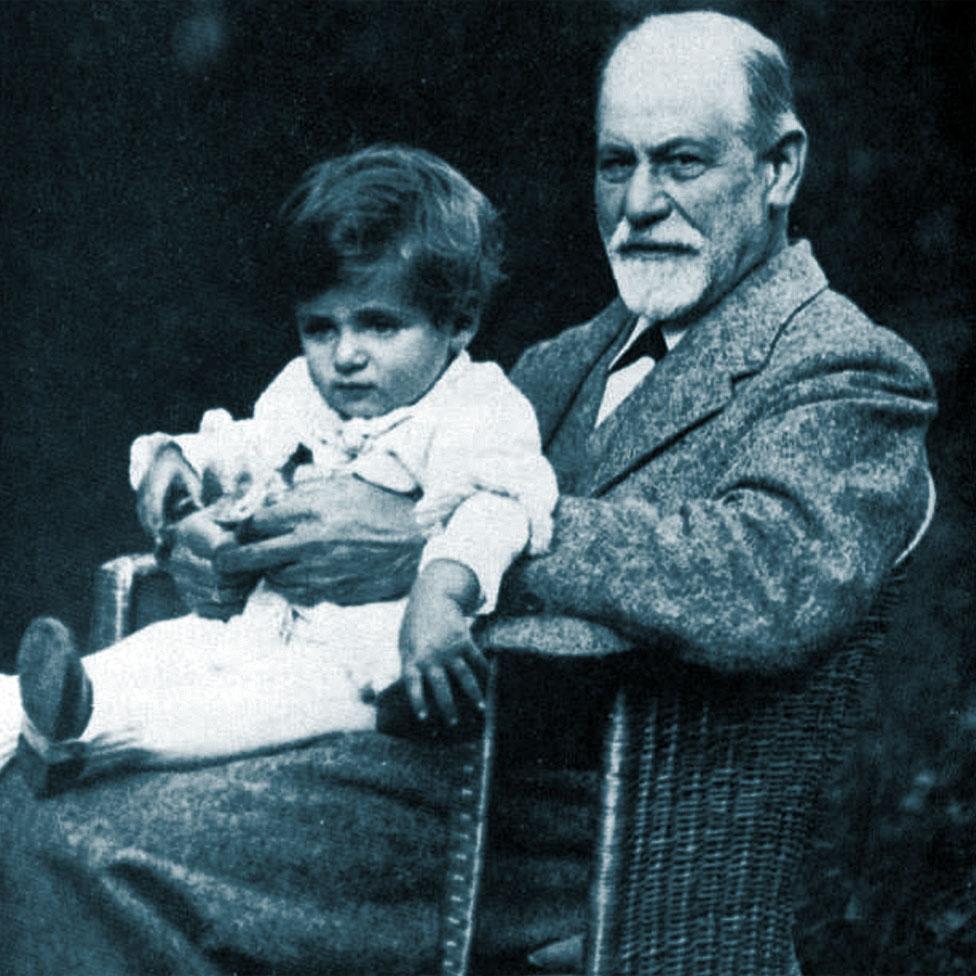 Sigmund Freud con El pequeño Hans