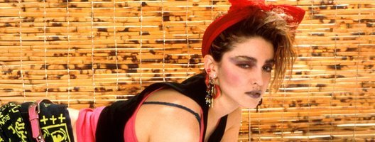 Madonna posing for a photo in New York in 1984