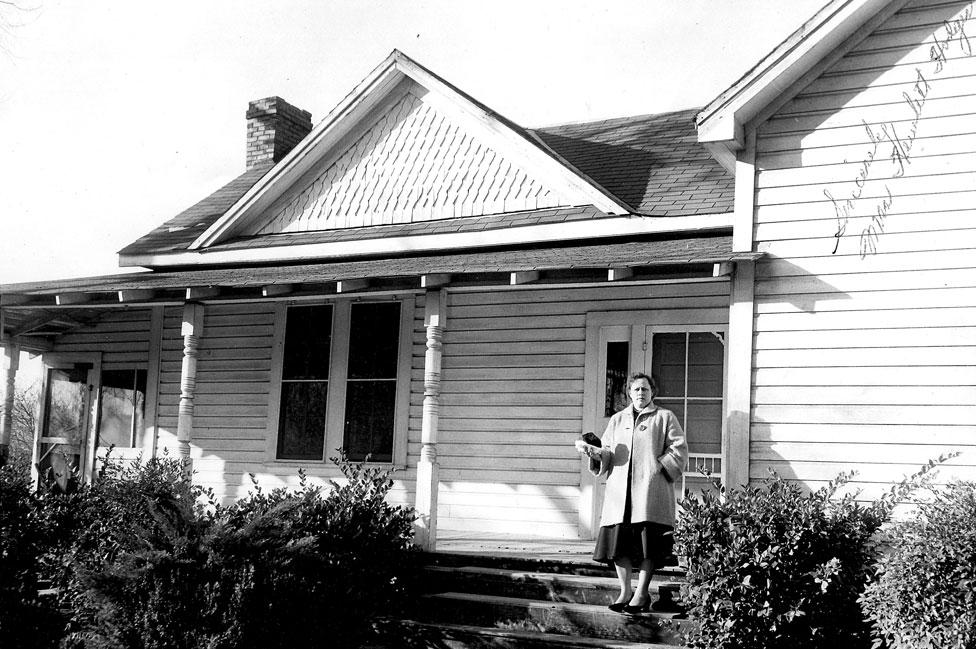 La casa donde vivían los Hodges, en Sylacauga, Alabama