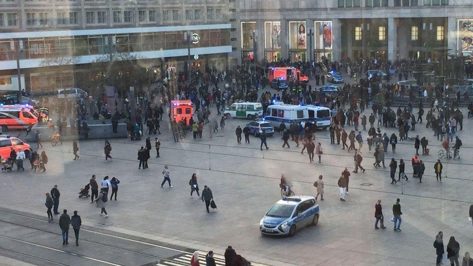 police brawl berlin