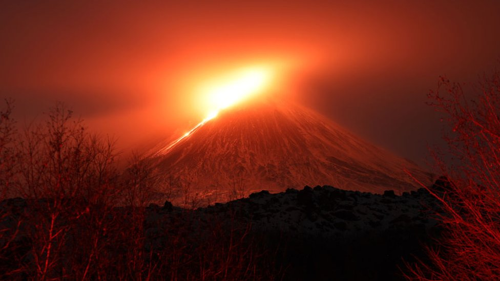 Volcán en Kamchatka