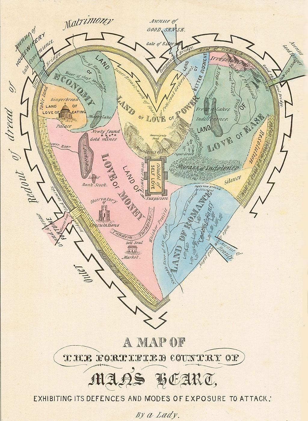 El mapa del corazón del hombre