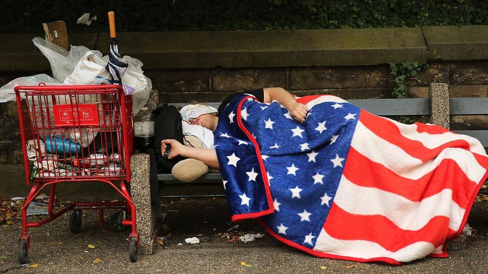 Persona sin hogar.