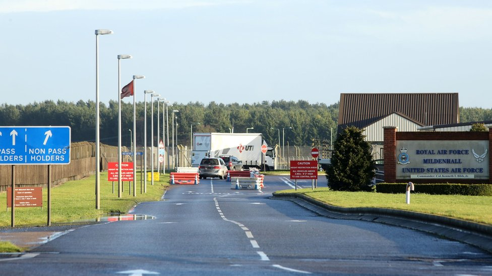 RAF Mildenhall entrance