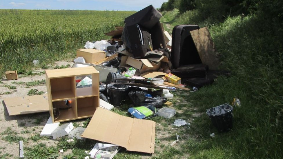 Fly-tipping near Royston