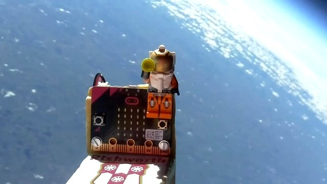 Microbit in stratosphere