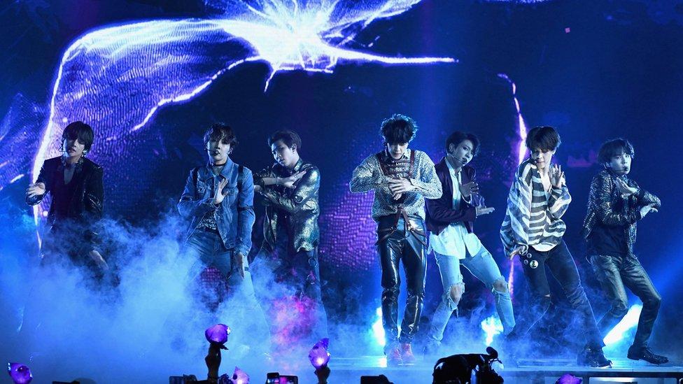 BTS en un concierto.