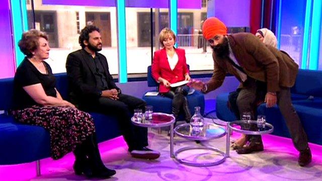 Jagmeet Singh interrupts Sunday Morning Live