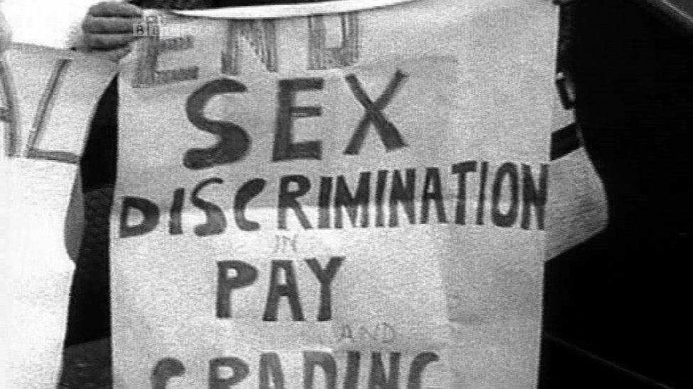 Sex discrimination banner 1968