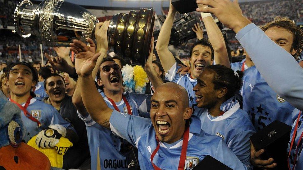 Uruguay, campeón de la Copa América en 2011.