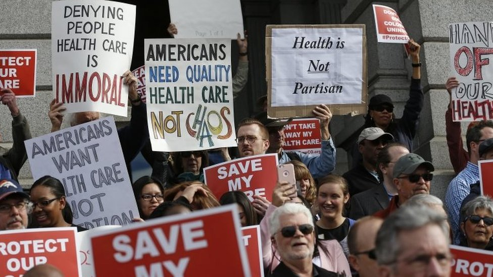 Supporters of the Affordable Care Act.