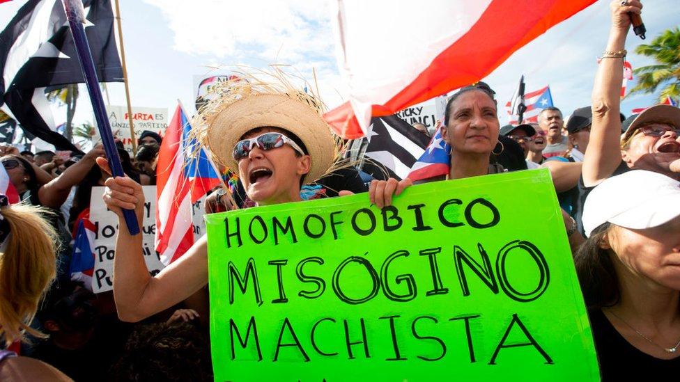Protesta en Puerto Rico.