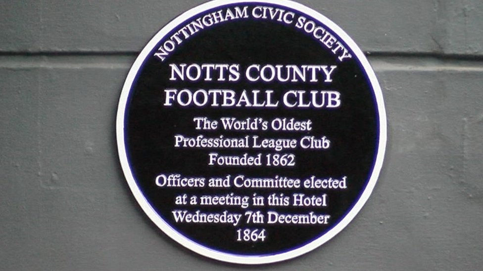 Notts County: Plaque for 'hugely significant' meeting
