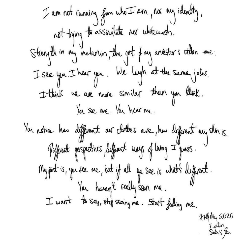 Simba's writing