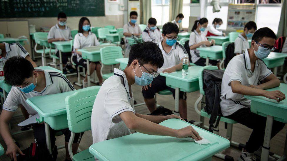 Escuela en Wuhan